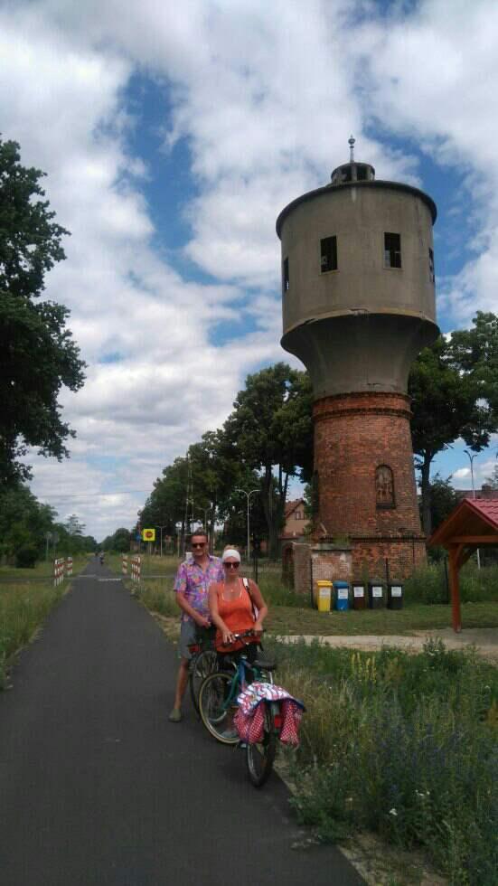 """""""Kolej na Rower"""" - wieża ciśnień w Konotopie"""